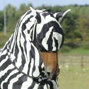 Buzz off fly mask zebra