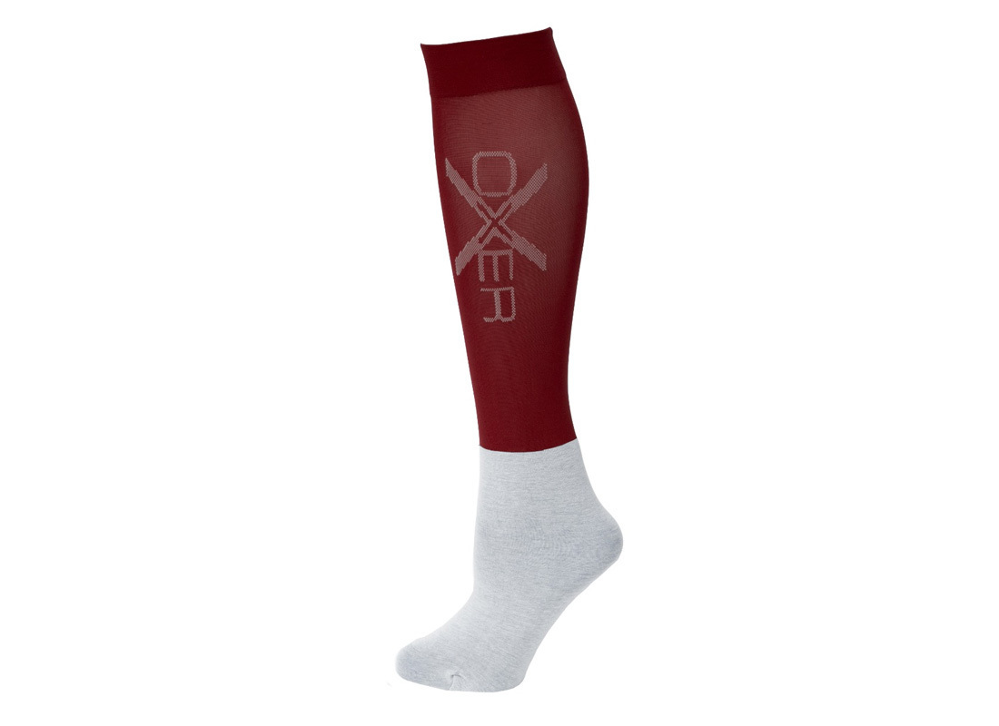 Oxer Kousen Slim Foot Bordeaux Maat 36/42